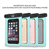 ✪ LIFETIME WARRANTY ✪ YOSH® Universal Waterproof Case Bag for Apple iPhone 6s, 6 Plus, Samsung Galaxy S6 Edge. Best Water Proof, Dust Dirt Proof, Snowproof Pouch for Cell Phone up to 6 inches(Green)