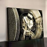 SL1200 MK2 TECHNICS ART PRINT 340gsm Framed XL 30x20 Inch Heavyweight Cotton Canvas Office Wall Picture 750X500mm