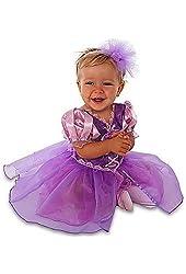 Disney Store Rapunzel Costume Dress with Headband Size 3 - 6 Months Halloween