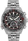 Citizen Chronotime Men's Quartz Watch with Black Dial Analogue Display and Silver Titanium Bracelet BY0120-54E