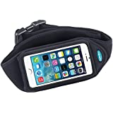 Sport Belt for iPhone 6, 6S and Galaxy S3, S4; Also fits iPhone 5, 5s, 5c, SE with OtterBox Commuter case or LifeProof nuud - Great for Running, Jogging, Walking & Workouts - for Men & Women