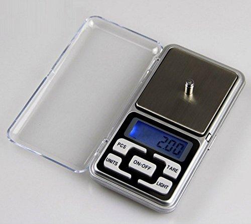 adeby (TM) vente vacances 200g x 0,1g Balance de poche électronique numérique Bijoux Poids balance de cuisine Balance