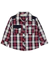 Corduroy Patch Check Shirt Maroon Check