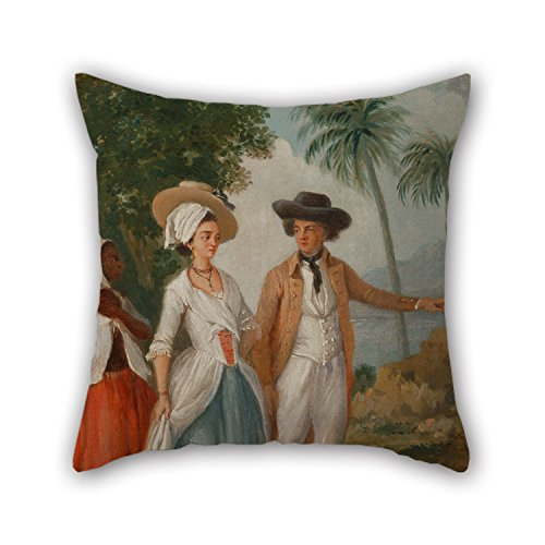 Uloveme Oil Painting Agostino Brunias - Planter And His Wife, With A Servant Pillow Covers 18 X 18 Inches /