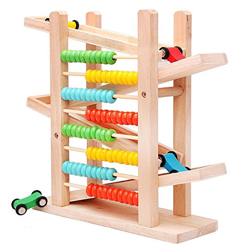 SUNONE11-4-Layer-Wooden-Ramp-Racer-Cars-Arithmetic-80-Beads-Abacus-Toys-Kids-Educational-Mathematics-Genius-Toys-Learning-in-Entertainment