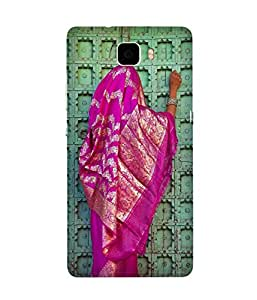 Pink Saree Huawei Honor 7 Case