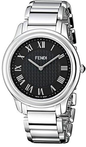 Fendi Classico F251011000 40mm Silver Steel Bracelet & Case Anti-Reflective Sapphire Men's Watch
