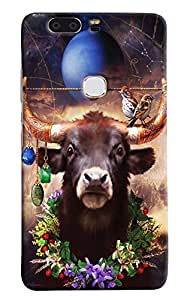 Omnam Buffalow With Bird Effect Printed Designer Back Case For Huawei Honor V8