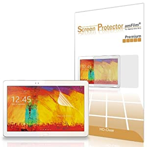 amFilm Samsung Galaxy Note 10.1 (2014 Edition) Tablet P600/P601 Premium HD Clear (Invisible) Screen Protector Film with Lifetime Warranty (2-Pack) [in Retail Packaging]