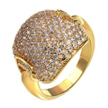 buy Womens Wedding Bands Gold Plated Irregularly Round Shape Cubic Zirconia Cz Size 7 By Aienid