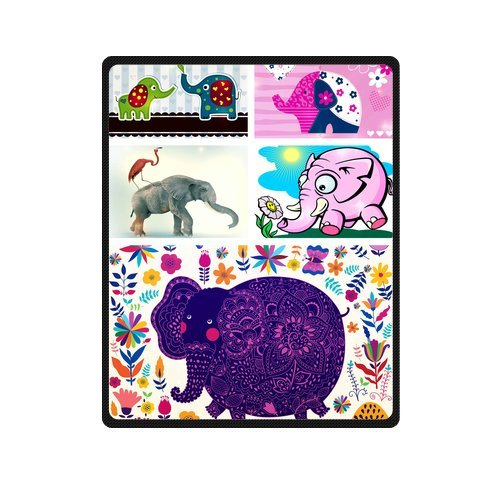 "Sweet And Romantic Couple Elephants In Love Custom Blanket 40""X 50""(Small) front-887176"