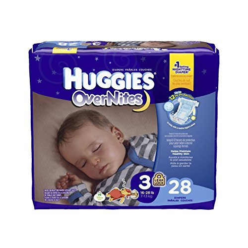 Huggies Overnites Diapers, Size 3 28 ea