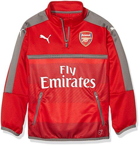 PUMA giacca da bambino AFC 1/4 Top da allenamento-sales with side/2 tasche con cerniera, high risk Red-steel gray, 176, 749746 04