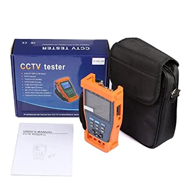 "ST895 3.5"" LCD CCTV Camera Video Tester Set with PTZ DC12V/1A Output + Multimeter + Optical Power Meter for CCTV System Installation and Maintenance, Dome Camera and All-in-one Camera Testing"