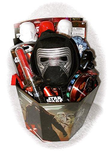 Star Wars Boys Gift Basket with 1 Movie Plush & Toys & More Great for Easter, or Birthday Plus Bonus Star Wars Egg Kit