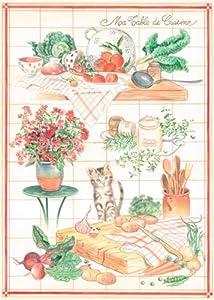 comptoir de famille carte postale table cuisine cuisine maison. Black Bedroom Furniture Sets. Home Design Ideas