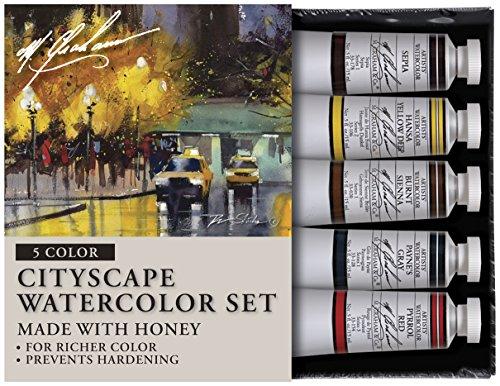 M. Graham Tube Watercolour Paint Cityscape 5-Colour Set, 30ml