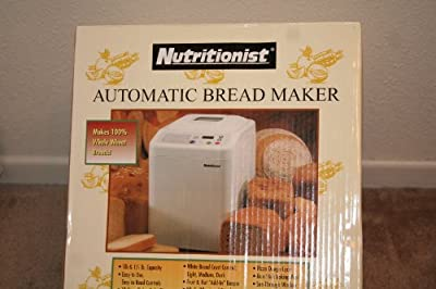 Nutritionist NTR440C Automatic Bread Maker 1 1/2 Lb. Breadmaker from Salton