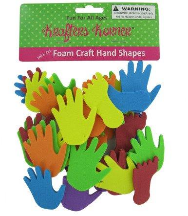 Foam Hand Craft Shapes - Case Pack 72 SKU-PAS777448