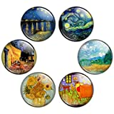 Button Bistro Men's Vincent van Gogh Painting 1.25 inch Pinback Button Set Pins