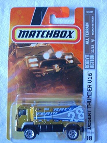 Mattel Matchbox MBX All Terrain Metal 1:64 Scale Die Cast Car # 98 - Desert Thunder V16 Race Team 28