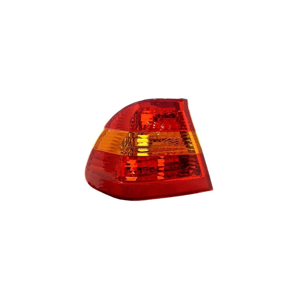 2002 2003 2004 2005 BMW 3 Series 325i 325xi 330i 330xi 4 Door Sedan Taillight Taillamp Rear Brake Tail Light Lamp (Quarter Panel Outer Body Mounted AMBER/RED Lens) Left Driver Side (02 03 04 05)