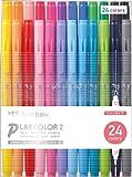 トンボ鉛筆 水性ペン プレイカラー2 24色 GCB-012