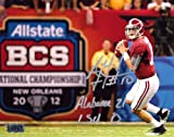 "A.J. McCarron Autographed/Signed Alabama Crimson Tide 8x10 NCAA Photo with ""Alabama 21 LSU 0"" Inscription at Amazon.com"