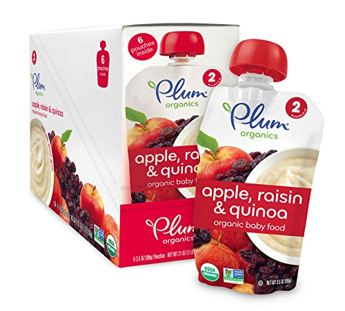 Plum Organics Baby Second Blends Fruit and Grain, Apple, Raisin and Quinoa, 3.5 Ounce (Pack of 12)
