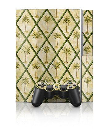 Palm Trees Design Protector Skin Decal Sticker for PS3 Playstation 3 Body Console
