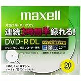 maxell 録画用 CPRM対応 DVD-R DL 215分 8倍速対応 インクジェットプリンタ対応ホワイト(ワイド印刷) 20枚 5mmケース入 DRD215WPB.20S