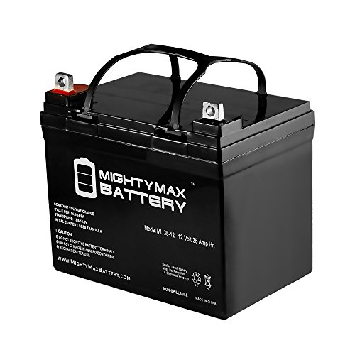 ML35-12 - 12V 35AH U1 Deep Cycle AGM Solar Battery Replaces 33Ah, 34Ah, 36Ah - Mighty Max Battery brand product (12 Car Battery compare prices)