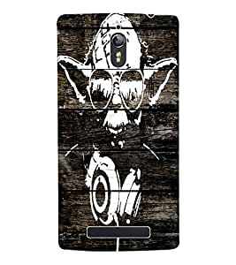 Fuson 3D Printed skeleton Designer Back Case Cover for Oppo Find 7 - D1112