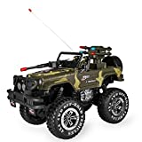 SZJJX 1:10 Remote Control Car 4WD Shaft Drive Truck Large Four-wheel Drive Remote Super Off-road racing Toy Radio Controlled rc Chargeable Off-road Rock Crawler(MYX-301 Vehicle Camouflage)