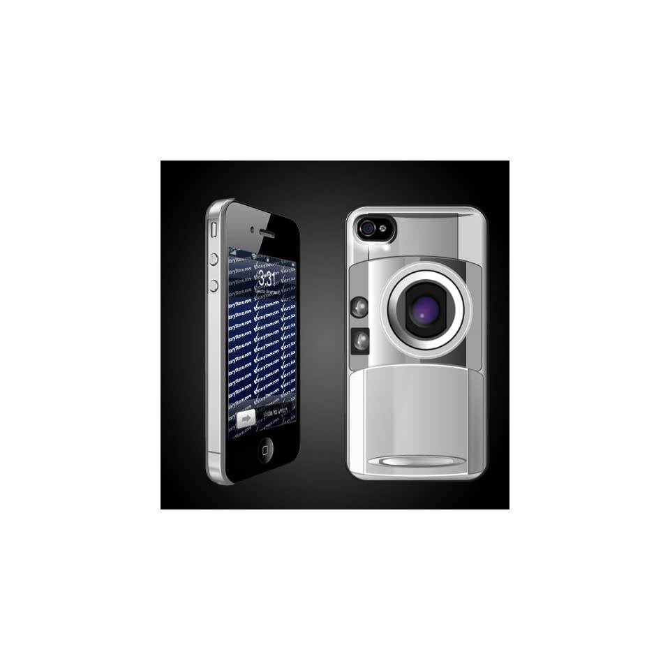 Fun iPhone Hard Case Designs   Camera Look CLEAR Protective iPhone 4/iPhone 4S Case.
