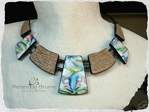 plastron-borealis-en-pate-polymere-aux-motifs-abstraits-colores-et-imitation-bois-flotte