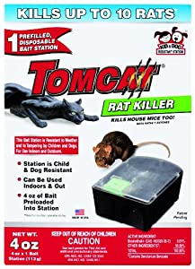 Motomco  Tomcat Disposable Rat Bait Station Box, 4-Ounce