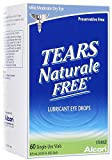 Tears Naturale Free Lubricant Eye Drops Single Use Vials-0.03 oz, 60 ct