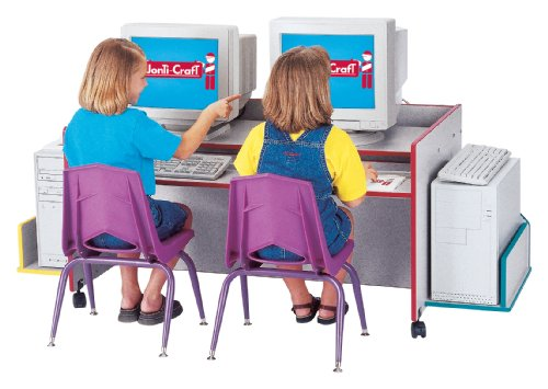 Buy Low Price Comfortable Kydz Computer Desk – Double – Navy – School & Play Furniture (B002LTKRP6)
