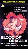 echange, troc Arkoff - the Blood of Dracula [VHS]