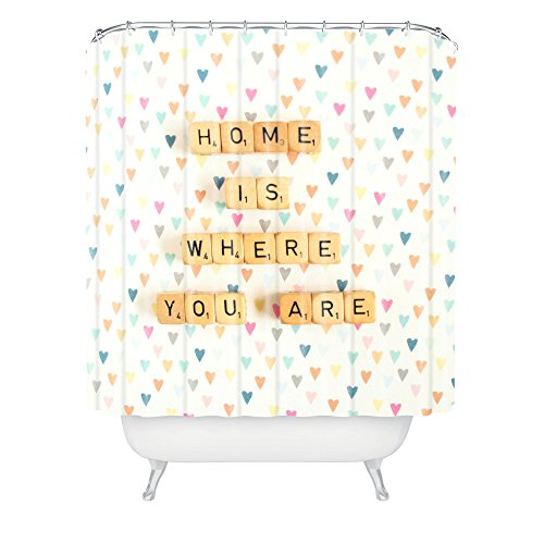 Deny Designs Happee Monkee Home Where You Are Shower Curtain front-336005