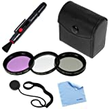 BIRUGEAR 40.5mm 3PCS Filter Set (UV, CPL, FLD) + Lens Pen + Holder for Samsung NX300, NX1000, NX1100 & NX2000 with 20-50mm lens *with Cleaning Cloth*