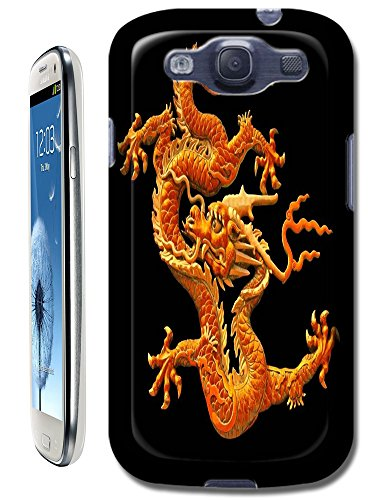 The Hallowmas Gift With Beautiful Fire Flowers Horses Dragon Nice Fashion Cell Phone Cases Design Special For Samsung Galaxy S3 I9300 No.12 front-63908