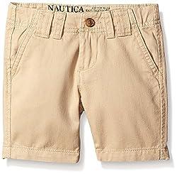 Nautica Little Boys' Chino Short, Tan Acorn, 3T
