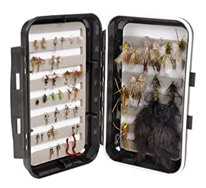 Wetfly 48 Deluxe Fly Selection in Waterproof Fly Box by Wetfly