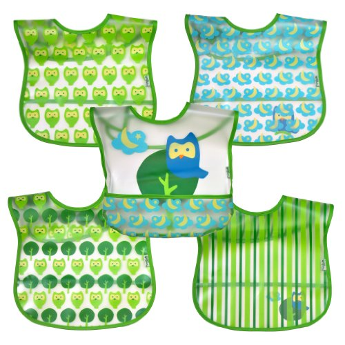 green-sprouts-wipe-off-bib-green-owl-5-count