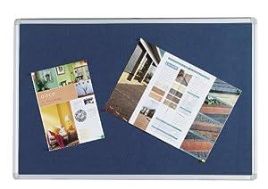 Q Connect 900x600mm Aluminium Frame Notice Board - Blue