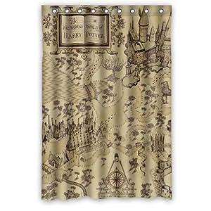 welcome waterproof decorative marauder s map harry potter shower curtain 48 quot x72 quot 1