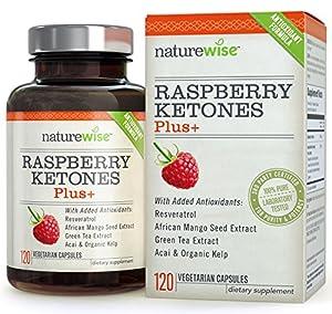 NatureWise Raspberry Ketones Plus+ Advanced Antioxidant Blend