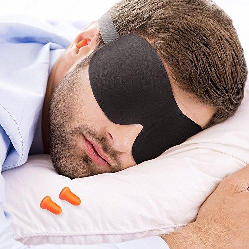 plemo masque de voyage masque de sommeil occultant pas cher masque de nuit femme ultra doux anti. Black Bedroom Furniture Sets. Home Design Ideas